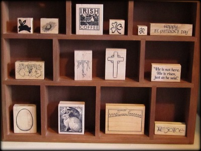 March Stamp Display