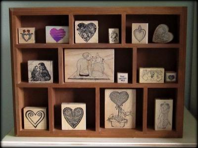 Valentine Stamp Display