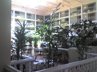 atrium inside the embassy suites where the workshop was held